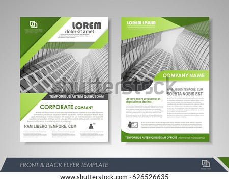 Business Green Brochure Flyer  Download Free Vector Art Stock