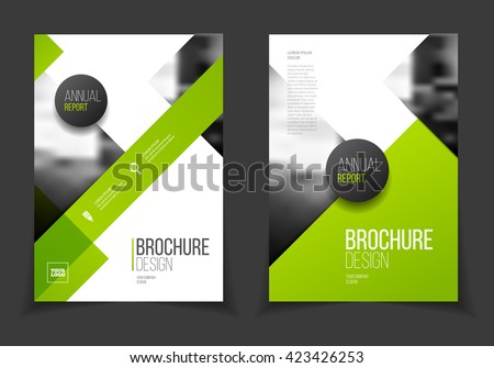 green annual report vector