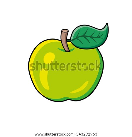 green apple fruit isolated
