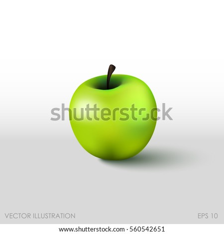 green apple in a realistic