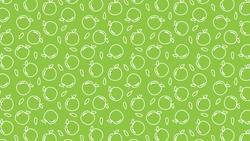 Green apple vector. Green apple symbol. Apple doodle pattern wallpaper.