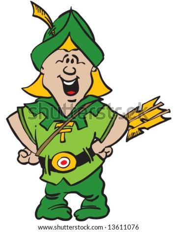 Green Archer Posing