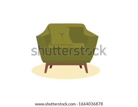 green armchair  vector