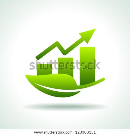green arrow diagram chart
