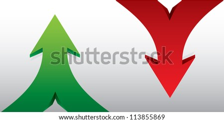 Green arrows -abstract template with background - vector version