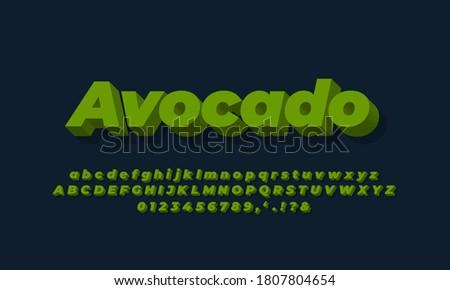 green avocado  text effect