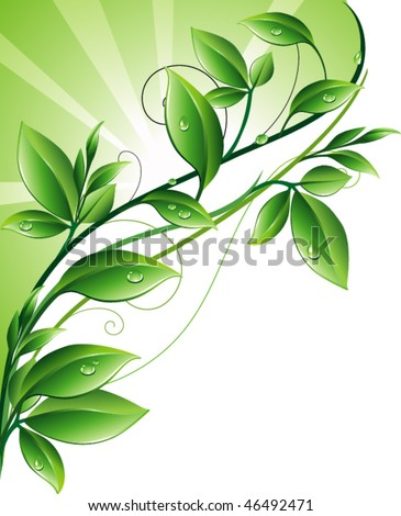 Green background - stock vector