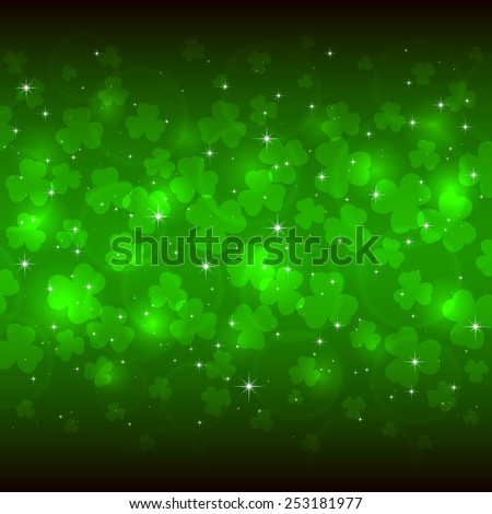 green background of st