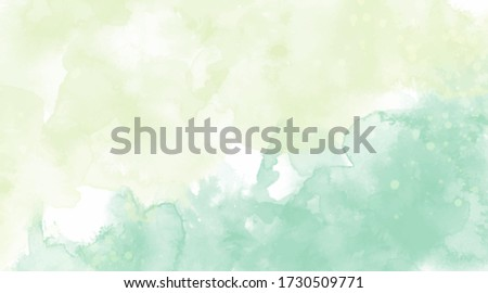 Green background watercolor. Green splash watercolor. Water color backdrop. Yellow green background watercolor. Abstract green yellow splash watercolor on white background.