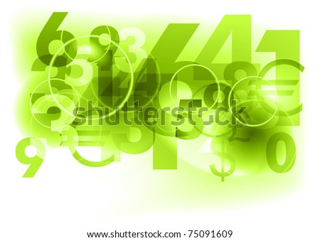 green background with abstract