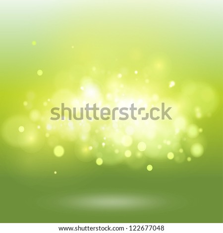 Green background with brightness. Vector design.