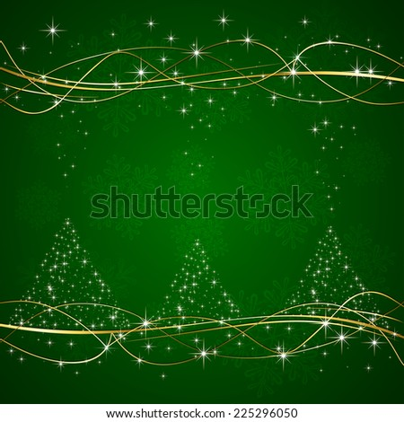 green background with christmas