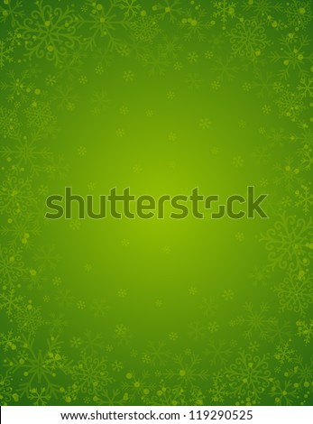 stock-vector-green-background-with-frame-of-snowflakes-vector-illustration