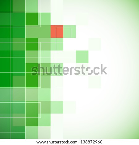 green background with mosaic effect