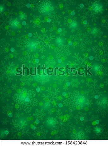 stock-vector-green-background-with-snowflakes-vector-illustration