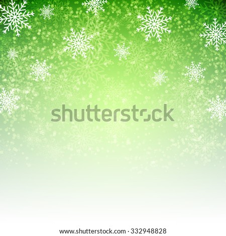 green background with