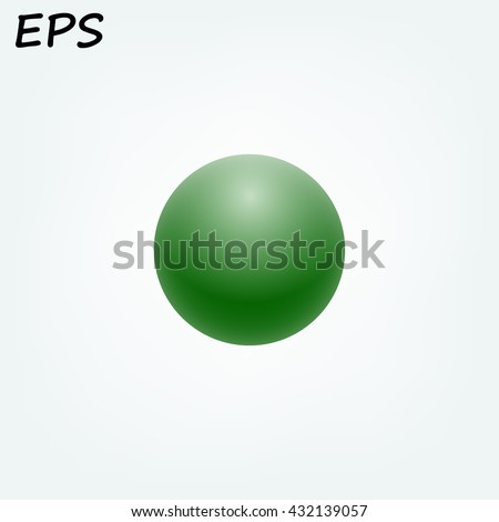 green ball  vector illustration