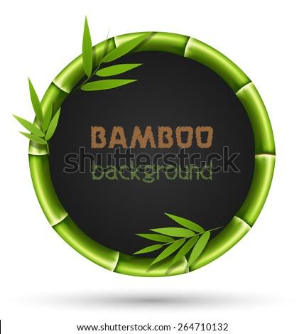 green bamboo circle frame