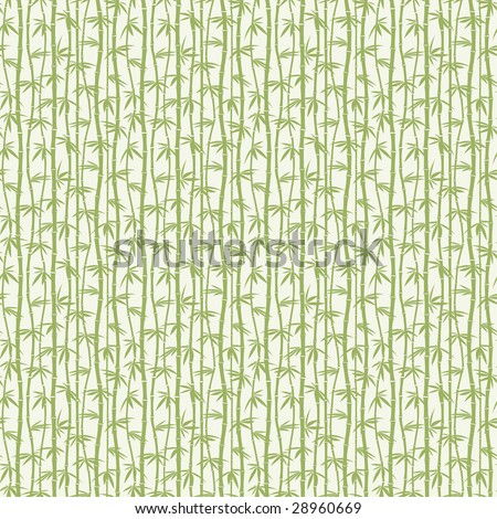 green bamboo in one pattern