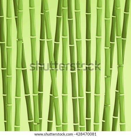 green bamboo vector