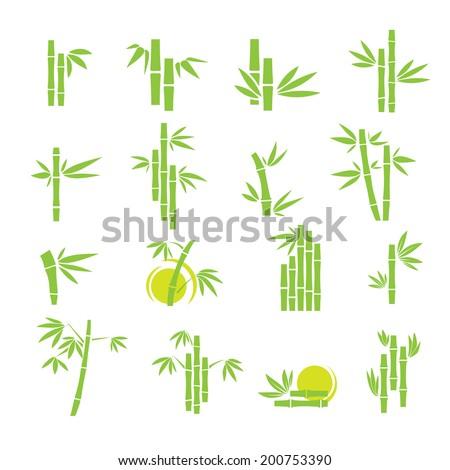green bamboo vector symbol