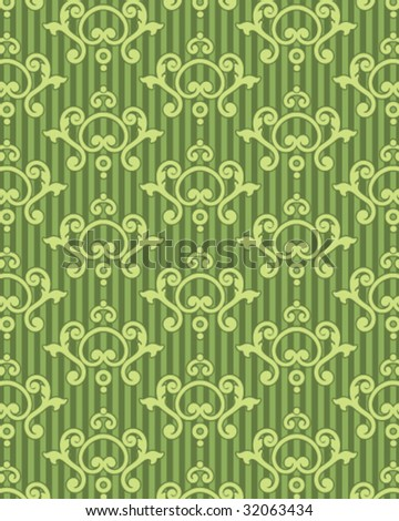 baroque wallpaper. green aroque wallpaper