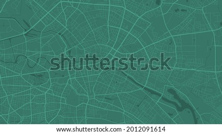 green berlin city area vector