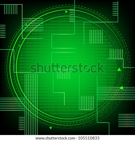 Green Binary Technology. Jpeg Version Also Available In Gallery.