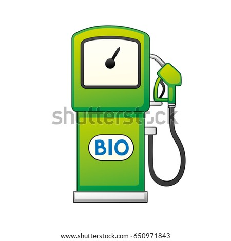 Green bio fuel pump isolated.