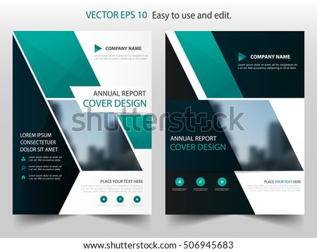 Abstract Green Company Magazine Cover Page Brochure Design - Brochure design template