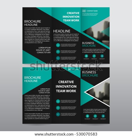 stylish creative business trifold brochure template with orange