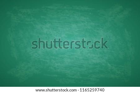 Green blackboard. Design rubbed out dirty chalkboard. Background vector illustration