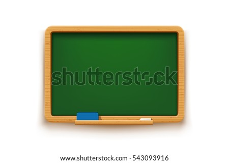 green blackboard on white