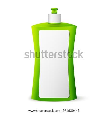 green blank dish washing liquid