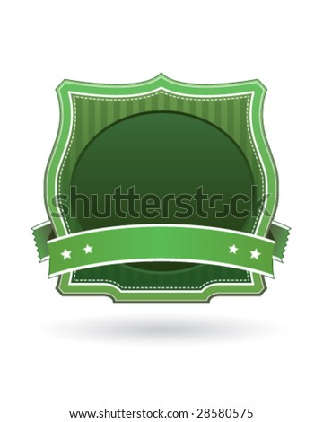 Green blank label sticker for use on logos, packaging, websites, or print materials