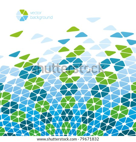 green blue cool cells - vector background