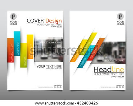 green blue red yellow technology annual report brochure flyer design template vector leaflet cover presentation