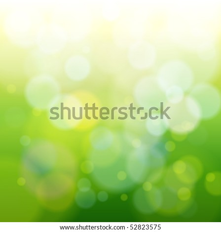 green bokeh abstract light background. Vector illustration - stock vector