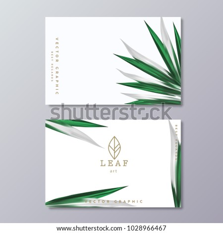 green botany business card