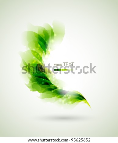 green branch with abstract