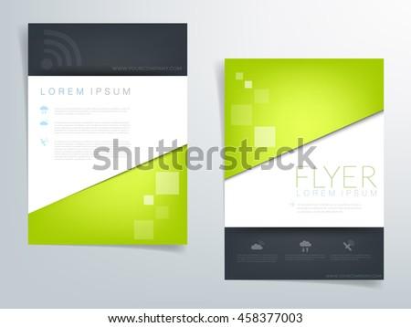 green brochure template flyer