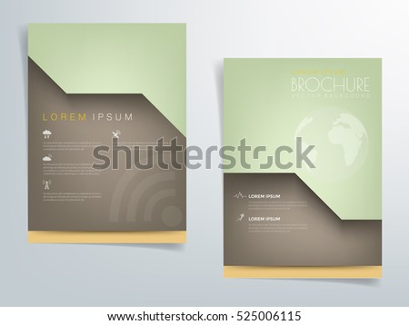 green brochure template flyer