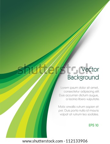 Green brochure vector background. This image will download as a .eps file and can be edited with any vector editing software./Green Background Brochure