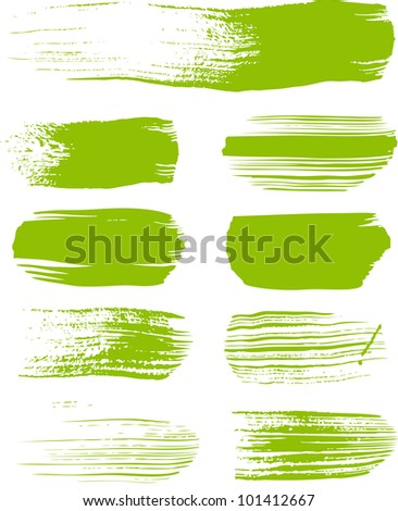 green brush strokes - the perfect backdrop for your text or cool brushes - stock vector
