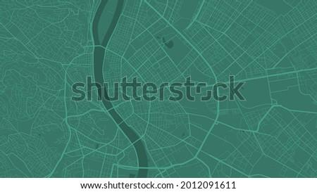 green budapest city area vector