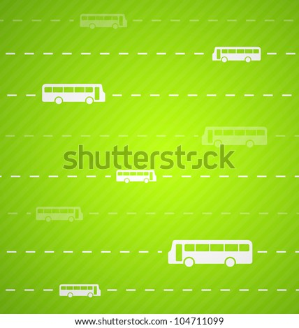 Green Bus abstract background with stripes