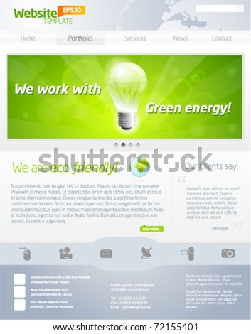 Green business website template payout