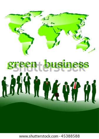 green businesspeople- vector