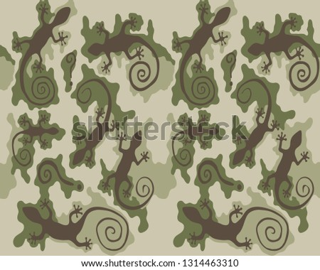 green camouflage pattern with