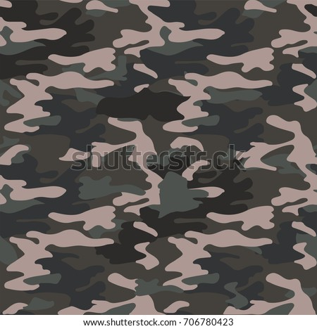 green camouflaged pattern background seamless vector illustration Foto stock ©